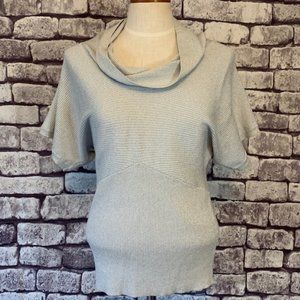 White Houes Black Market Silver Sweater